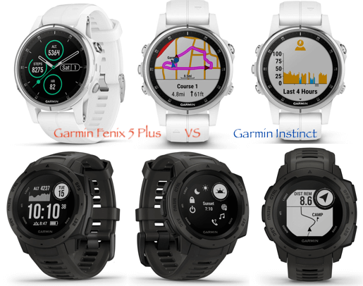 Garmin Instinct VS Fenix 5 Plus